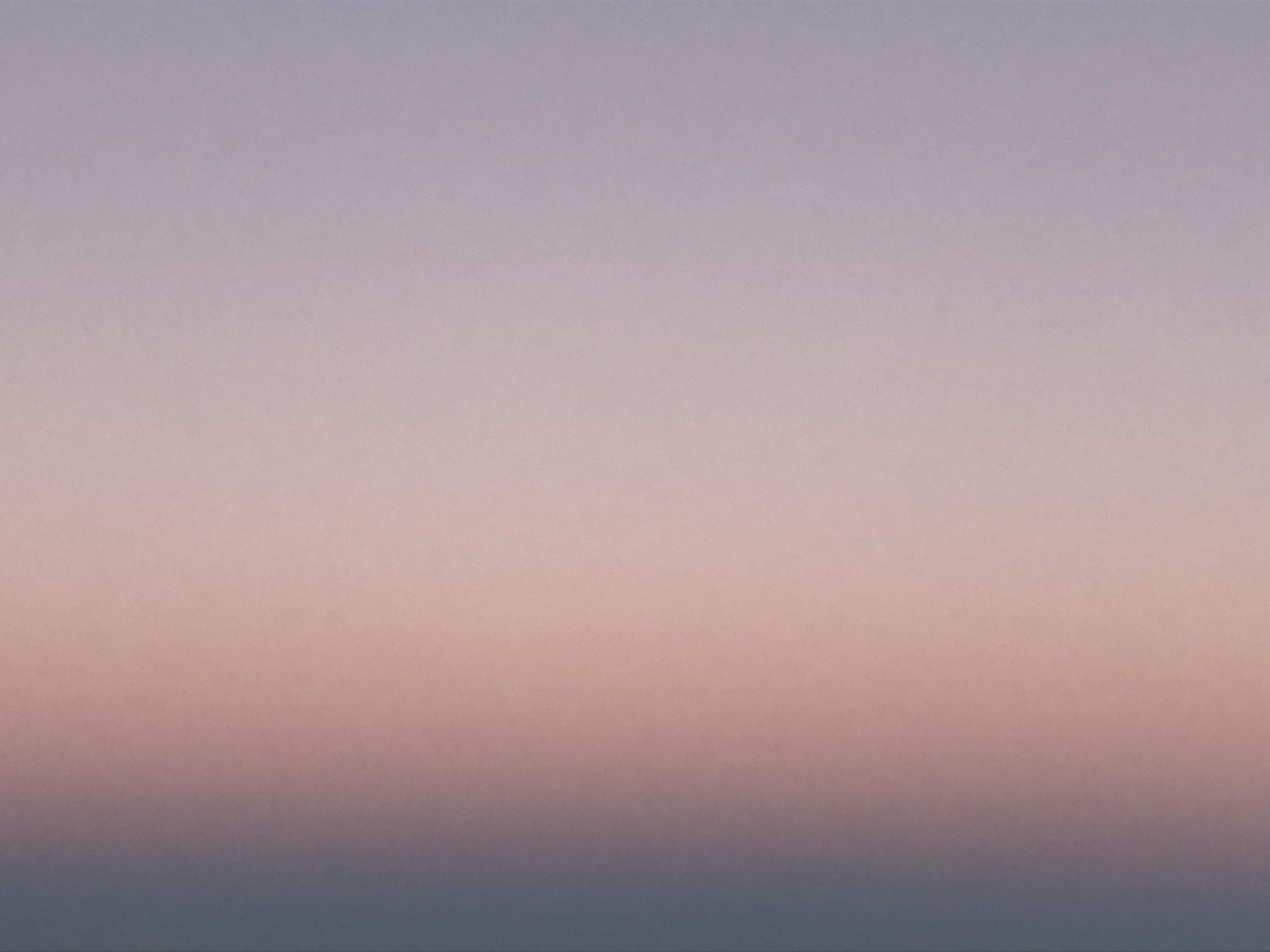 hazy pink sky